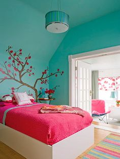 turquoise + red (for guestroom)