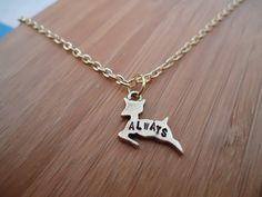 "Severus Snape ""Always"" Doe Patronus Necklace - Harry Potter  The Deathly Hallows Inspired Geekery. $18.00, via Etsy."