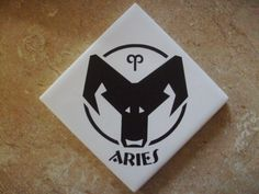 Aries  Etched Zodiac symbol by SomeLikeItEtched on Etsy