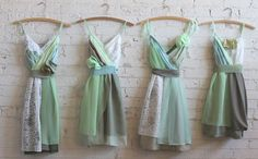 mint and sage bridesmaids dresses by Armour sans Anguish