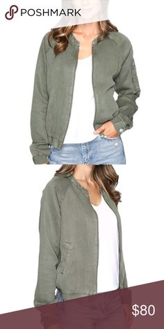 Sanctuary Pilot Bomber Jacket This linen blend bomber jacket is the piece you've been searching for!! Super cute, lightweight and stylish, it is a great transition piece for fall.  **ALL purchases come with a FREE gift!!** Sanctuary Jackets & Coats Utility Jackets