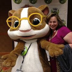 I'm in Denver with PBS for their annual meeting. Hanging with Hooper. #PBSKIDSVIPS