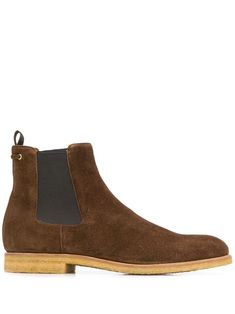 Brown calf leather chelsea boots from Car Shoe featuring a pull tab at the rear, an ankle length, a round toe, elasticated side panels, a branded insole and a flat sole. Leather Chelsea Boots, Calf Leather, Car Shoe, Danielle Steel, Dan Brown, Brown Boots, Ankle Length, Calves, Women Wear