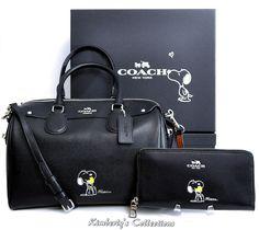 COACH X Peanuts SNOOPY LIMITED EDITION Bennett Satchel Bag & Wallet Set NWT  #Coach #SatchelCrossBody