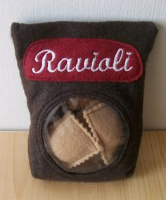 Ravioli with Red Sauce by SevenFeathersTribe on Etsy, $15.00