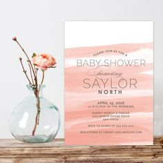 34 best modern baby shower invitations images on pinterest watercolor baby shower invitation modern baby shower invite baby girl baby boy shower invitation filmwisefo