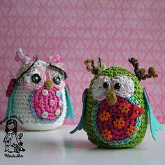 beauty of crocheting, Vendulka, DIY, crochet paterns, decoration, handmade toy, Magic with hook and needles, owl, owl amigurumi,