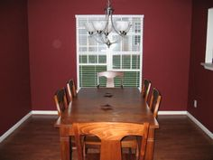 maroon kitchen pictures | good sized dining room with a beautiful burgundy paint is ...