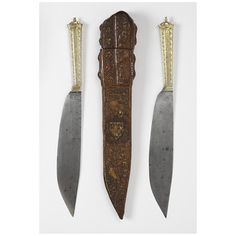 Pair of knives in case    Place of origin:  Burgundy, France (possibly, made)    Date:  1400-1450 (made)    Artist/Maker:  Unknown (production)