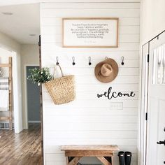 Laundry Room Ideas Discover Welcome wood words wood word cut out laser cut wedding gift wooden wall art home decor wall decor entryway decor porch decor Halls Pequenos, Entryway Wall Decor, Entryway Hooks, Kitchen Entryway Ideas, Small Wall Decor, Entryway Console, Small Entryway Bench, Entry Wall, Porch Wall Decor