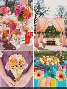 Peach, pink, orange colors palette!