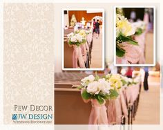 Pew Decorations For Church Weddings | Wedding church pew decorations