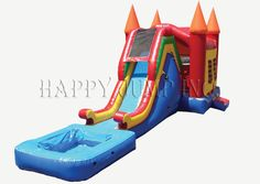 Jump & Slide 2 with Pool : Inflatable Combos