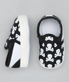 Black & White Skull Booties