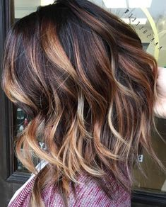 dark brown hair with caramel balayage | 3d hair color best 25 hair colors ideas on pinterest fall ...