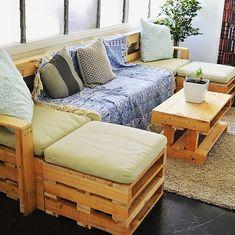 reused wooden pallet furniture idea