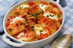 Receita de Peixe com legumes especial em receitas de microondas, veja essa e outras receitas aqui!