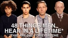 48 Things Men Hear In A Lifetime (That Are Bad For Everyone) (via Huffington Post (video) min) (December The messages we tell boys and men has a significant impact on who they become and how they see the world. Gender Issues, Gender Roles, Everyday Feminism, Gender Studies, Religion And Politics, Strong Girls, Equal Rights, Patriarchy, Male Face