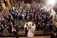 Most of our Wedding Guests at Cocktail Hour at the Jefferson Hotel in Richmond, Virginia