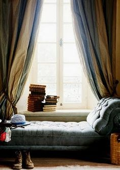 a chaise lounge perfect for reading...