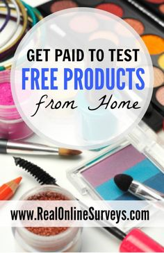 Did you know you could make money testing free products from home? Believe or not, there are many ways to test out free products and get paid for it. For example, some companies will send you several full size products, as well as sample products to test Earn Money From Home, Earn Money Online, Online Jobs, Way To Make Money, How To Make, Money Fast, Free Money, Money Today, Making Money From Home
