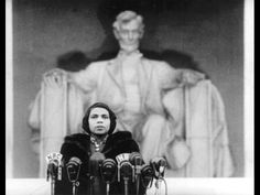 Marian Anderson sings on the steps of the Lincoln Memorial-1939.  I love this piece of history.