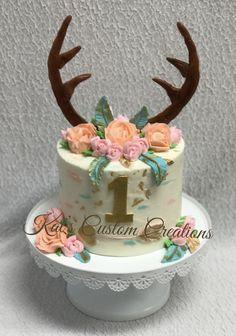 Boho Wild One Smash Cake! 1st Birthday Cake For Girls, First Birthday Party Themes, Wild One Birthday Party, First Birthday Cakes, Birthday Ideas, Deer Cakes, Shower Bebe, Baby Shower, Baby Cake Smash