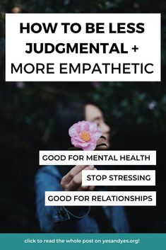Are you trying to be less judgmental? It's so hard! But being judgmental affects our careers, our friendships, and our relationships. Read on for how to how to dial it down. #empathy #compassion #selfhelp #selfdevelopment Self Development, Personal Development, Happy Facebook, Goal Setting Life, Quitting Social Media, Cognitive Distortions, Mental Health Disorders, Mental Health Matters, Life Choices