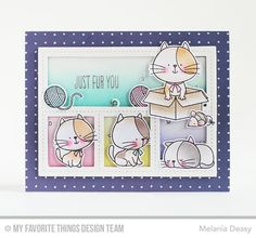 Handmade card from Melania Deasy featuring Birdie Brown I Knead You stamp set and Die-namics, and Blueprints 27 Die-namics #mftstamps