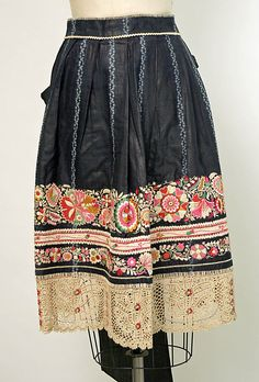 Czech Apron, 19th century: these designs and colors run in my blood from my mother's father.  How astonishing!  I was born with them!