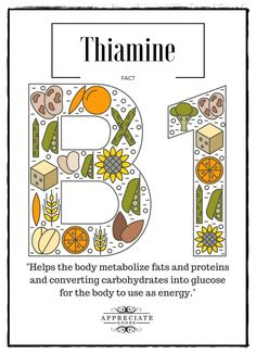Vitamin (Thiamine) Deficiencies, Benefits, Foods, Interactions, Effects Benefit, Vitamins, Facts, Science, Cooking, Health, Food, Recipes, Cuisine