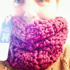 Purple Cowl  Handcrafted in Canada on Vancouver by snowytreedesign, $45.00 #madeincanada #purple #cowl #snowytreedesign