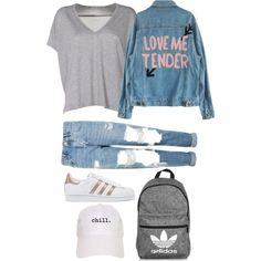 A fashion look from January 2017 featuring Acne Studios t-shirts, Topshop jeans and adidas Originals sneakers. Browse and shop related looks.
