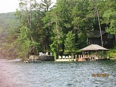 Lake George Cottage on the Water, Dock, Views Lake Lake George Resorts, Silver Bay, Ideal Home, Cottage, Cabin, Explore, Vacation, House Styles, Water