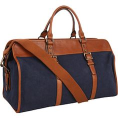Fossil Estate canvas duffle (also comes in olive)