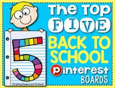 Creating Readers and Writers: 5 Awesome Back-to-School Boards!