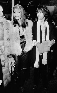 January 4, 1971. With Keith Richards at at the London premiere of the Rolling Stones' film Performance at the Warner West End Cinema in Leicester Square.
