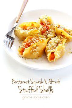 Butternut Alfredo Baked Shells 9