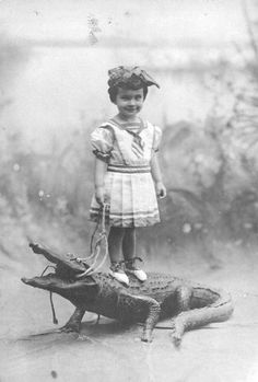 Oh, it's just our little angel and her dead, stuffed alligator.