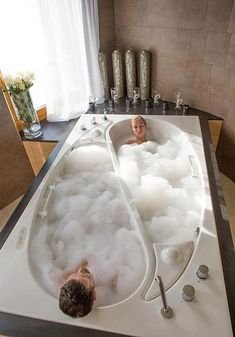 His and Hers Compartmentalized Bathtub | 36 Things You Obviously Need In Your New Home