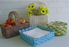 Country Baskets Crochet Pattern