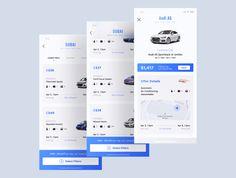 Heaven Mobile App UI Kit - Apps und Interfaces - Entwurf World Flat Web Design, Web Ui Design, Graphic Design, Chevrolet Spark, A5 Sportback, Ui Kit, Audi A5, Parking App, Ui Design Mobile