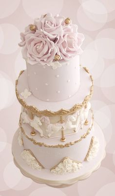 Elegant Carousel Cake Elegant Birthday Cakes, Birthday Cake Girls, First Birthday Cakes, Baby Birthday, Carousel Cake, Carousel Birthday, Pumpkin Birthday Parties, Baby Girl Cakes, Love Cake