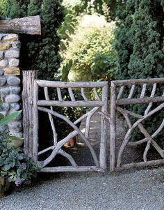 gates in front of the house- too rustic or just right?gates in front of the house- too rustic or just right?Getaway gates in front of the house- too rustic or just right?gates in front of the house- too rustic or just right? Diy Garden, Dream Garden, Garden Paths, Garden Projects, Garden Art, Home And Garden, Garden Tools, Inside Garden, Fruit Garden