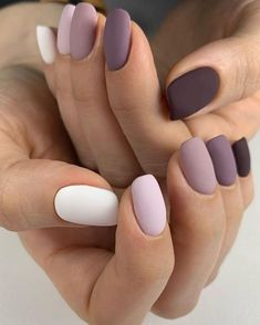 55 Pretty Matte Nails for Spring You Will Love - Girls still have their own different pursuit of makeup. Some girls prefer dry and non greasy matte m - Best Acrylic Nails, Matte Nails, Acrylic Nail Designs, Matte Nail Colors, Matte Nail Designs Ideas, Best Nails, Cool Nail Ideas, Art Designs, Dark Nails