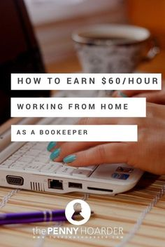 $60 from home as a book keeper