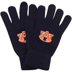 Top of the World Auburn Tigers Ladies Butter Fingers Knit Gloves - Navy Blue