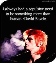 Now you're an angel. RIP Starman
