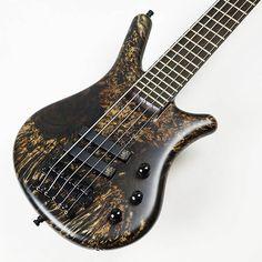 "Warwick Custom Shop Thumb Bass 5st ""Hand-Selected Karelian Birch Top/Wenge Fingerboard"" (Nirvana Black Bleached/Oil)"