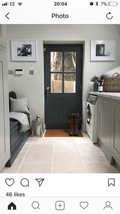 Convert WC at back of side extension to Victorian terrace home into a boot room/utility Mudroom Laundry Room, Laundry Room Design, Laundry Cupboard, Kitchen Design, Utility Room Designs, Utility Room Ideas, Utility Room Inspiration, Utility Room Storage, Bench Storage